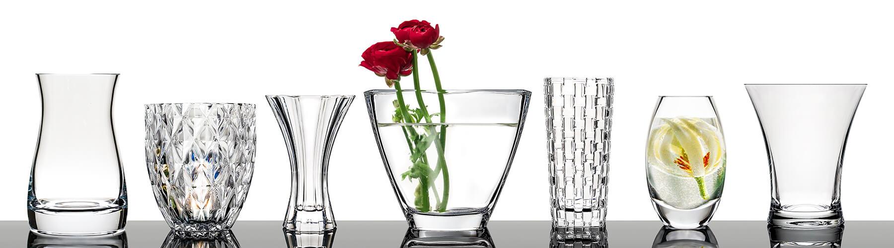 glasvasen in exklusivem design vasen aus glas glasklar. Black Bedroom Furniture Sets. Home Design Ideas