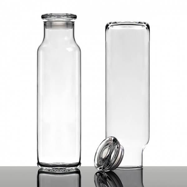 Hydration Glasflasche mit Glasdeckel