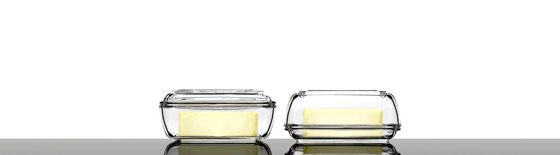 butterdose aus glas von luminarc glasklar berlin. Black Bedroom Furniture Sets. Home Design Ideas